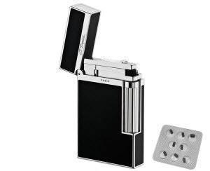 Dupont-Lighter-and-flints-300x244